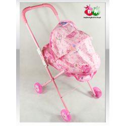 Wózek spacerówka dla lalek ŚWIATŁA DŹWIĘKI Karabiny