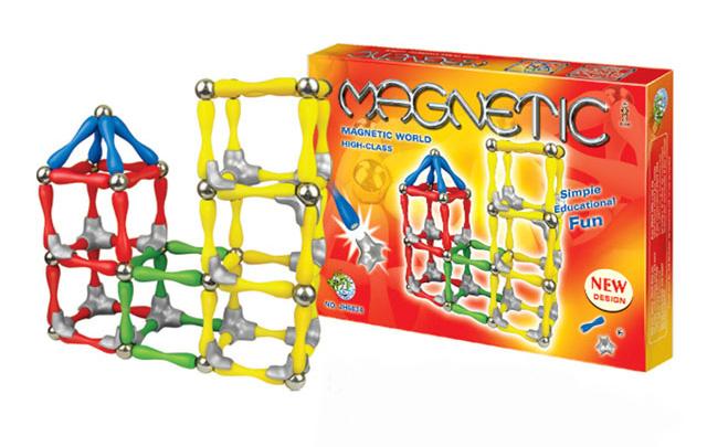 Klocki magnetyczne MULTI COLOR 120 MAGNETIC WORLD