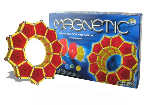 Klocki magnetyczne PANELS 130el. MAGNETIC WORLD