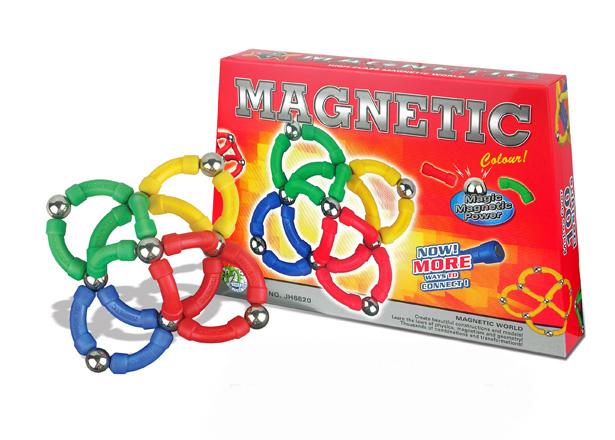 Klocki magnetyczne ŁUKI 96el. MAGNETIC WORLD