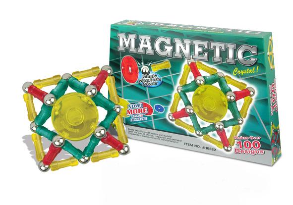 Klocki magnetyczne ZIELONY ZESTAW 96el. MAGNETIC WORLD