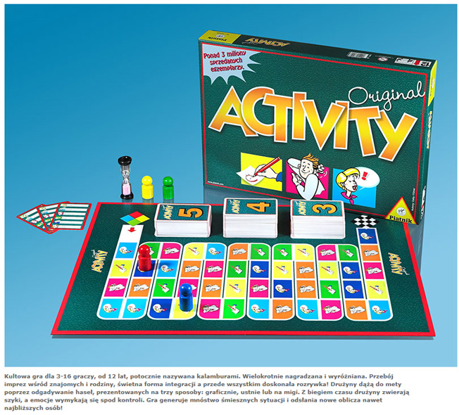 GRA ACTIVITY (GRA nr 1 na ŒWIECIE) firmy PIATNIK