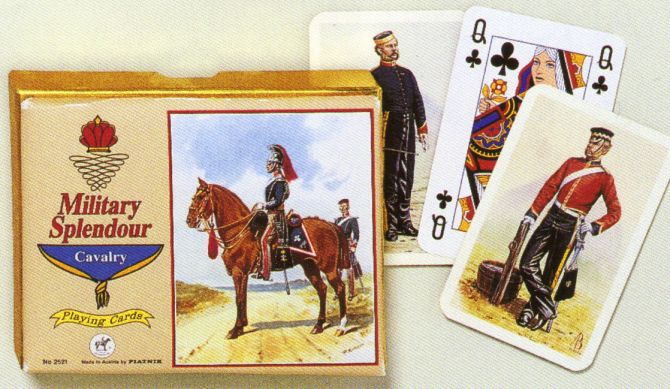 KARTY DO GRY MILITARY SPLENDOUR - CAVALRY firmy PIATNIK 2521s