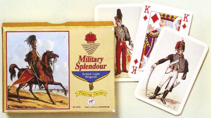 KARTY DO GRY MILITARY SPLENDOUR - BRITISH LIGHT DRAGOONS firmy PIATNIK 2518s