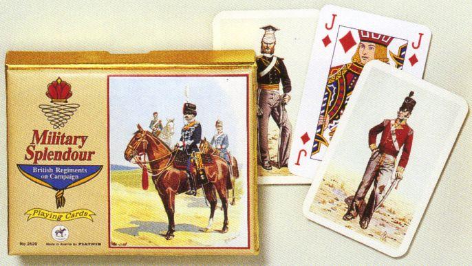 KARTY DO GRY MILITARY SPLENDOUR - BRITISH REGIMENTS ON CAMPAIGN firmy PIATNIK 2520s