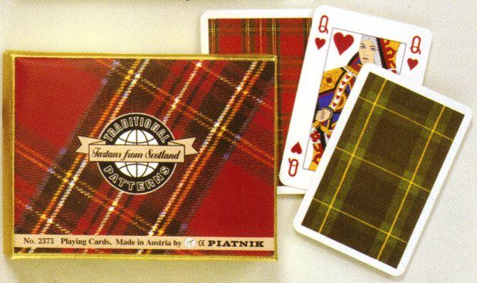 KARTY DO GRY TRADITIONAL PATTERNS - TARTANS FROM SCOTLAND firmy PIATNIK 2373
