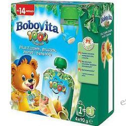 BoboVita 100 owoców mus z jabłek i bananów w tubce po 14. miesiącu 4szt