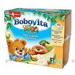 BoboVita mus 4 x 100g z jabłek i bananow po 4. miesiącu 400g