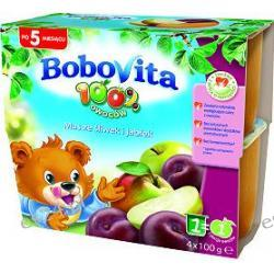 BoboVita mus 4 x 100g ze śliwek i jabłek po 5. miesiącu 400g