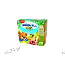 BoboVita mus 4 x 100g z jabłek, gruszek, moreli i bananów po 9. miesiącu 400g