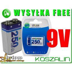 akumulator akumulatorek 6F22 9V 250 mAh whitenergy