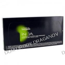 Loreal Inoa, żel koloryzujący bez amoniaku, 100% pokrycia siwych włosów, opakowanie 6x8g