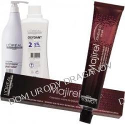 Loreal Majirel&Majirouge, zestaw do koloryzacji: krem koloryzujący Majirel lub Majirouge 50ml + Oxydant 75ml + szampon zamykający koloryzację Optimiseur Post-Color 25ml