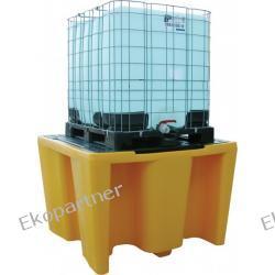 Paleta (wanna) wychwytowa, polietylenowa, 1*IBC/KTC, 1120 litrów, żółta