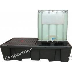 Paleta (wanna) wychwytowa, polietylenowa, 2*IBC/KTC, 1100 litrów, czarna