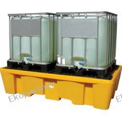 Paleta (wanna) wychwytowa, polietylenowa, 2*IBC/KTC, 1130 litrów, żółta