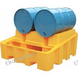 Stanowisko robocze, polietylenowe, moduł bazowy, 500 litrów, żółte