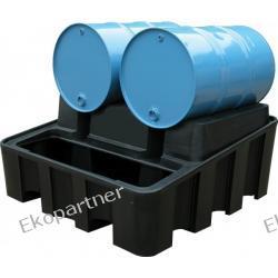 Stanowisko robocze, polietylenowe, moduł bazowy, 500 litrów, czarne