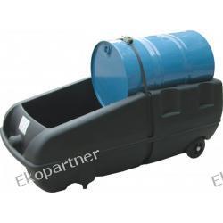 Stanowisko robocze, polietylenowe, ruchome (wózek), czarne