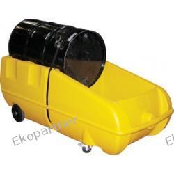 Stanowisko robocze, polietylenowe, ruchome (wózek), żółte