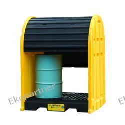 Stanowisko robocze, polietylenowe, Eco 55%, 2 beczki, żółto/czarne