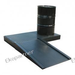 Paleta (wanna) wychwytowa, polietylenowa, platforma robocza, 2 beczki, 120 litrów