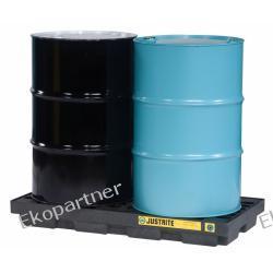 Paleta (wanna) wychwytowa, polietylenowa LOW, Eco 100%, platforma robocza, 2 beczki, 90 litrów
