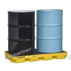 Paleta (wanna) wychwytowa, polietylenowa LOW, Eco 45%, platforma robocza, 2 beczki, 90 litrów