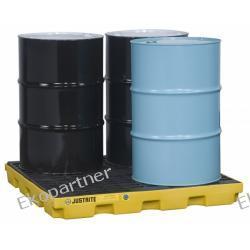 Paleta (wanna) wychwytowa, polietylenowa LOW, Eco 45%, platforma robocza, 4 beczki, 185 litrów
