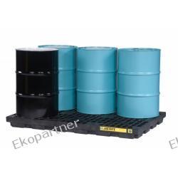 Paleta (wanna) wychwytowa, polietylenowa LOW, Eco 100%, platforma robocza, 6 beczek, 276 litrów