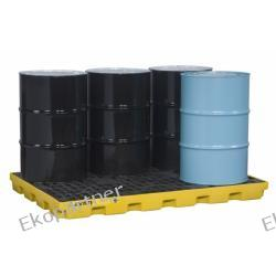 Paleta (wanna) wychwytowa, polietylenowa LOW, Eco 45%, platforma robocza, 6 beczek, 276 litrów