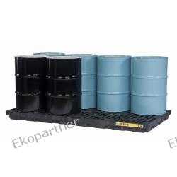 Paleta (wanna) wychwytowa, polietylenowa LOW, Eco 100%, platforma robocza, 8 beczek, 371 litrów