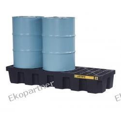 Paleta (wanna) wychwytowa ze spustem, polietylenowa, Eco 100%, 284 l, 3 beczki