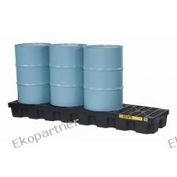Paleta (wanna) wychwytowa ze spustem, polietylenowa, Eco 100%, 284 l, 4 beczki