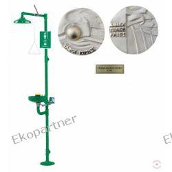 Urządzenie łączone (NL) - myjka do o/t (misa ABS), natrysk awaryjny (ABS), wylewki Axion MSR, b/pedału