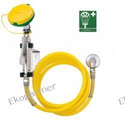 Myjka do oczu i twarzy, wąż spiralny PVC 365 cm, mocowana do ściany, SN, wylewka AXION MSR, kątowa