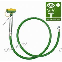 Myjka do oczu i twarzy, wąż PVC 245 cm, mocowana do ściany (ABS), wylewka AXION MSR, prosta