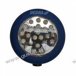 DEDRA Latarka 24 LED okrągła z magnesem i hakiem {baterie w zestawie}