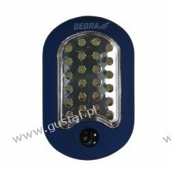 DEDRA Latarka 24+3 LED owalna z magnesem i hakiem {baterie w zestawie}