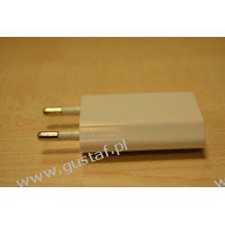 Ładowarka sieciowa USB 1A biała (gustaf)