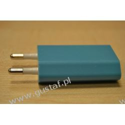 Ładowarka sieciowa USB 1A niebieska (gustaf)
