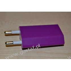 Ładowarka sieciowa USB 1A purpurowa (gustaf)