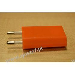 Ładowarka sieciowa USB 1A pomarańczowa (gustaf)