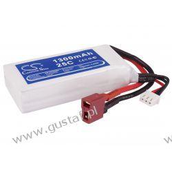 1300mAh 9.62Wh Li-Polymer 7.4V 2S 25C (Cameron Sino)