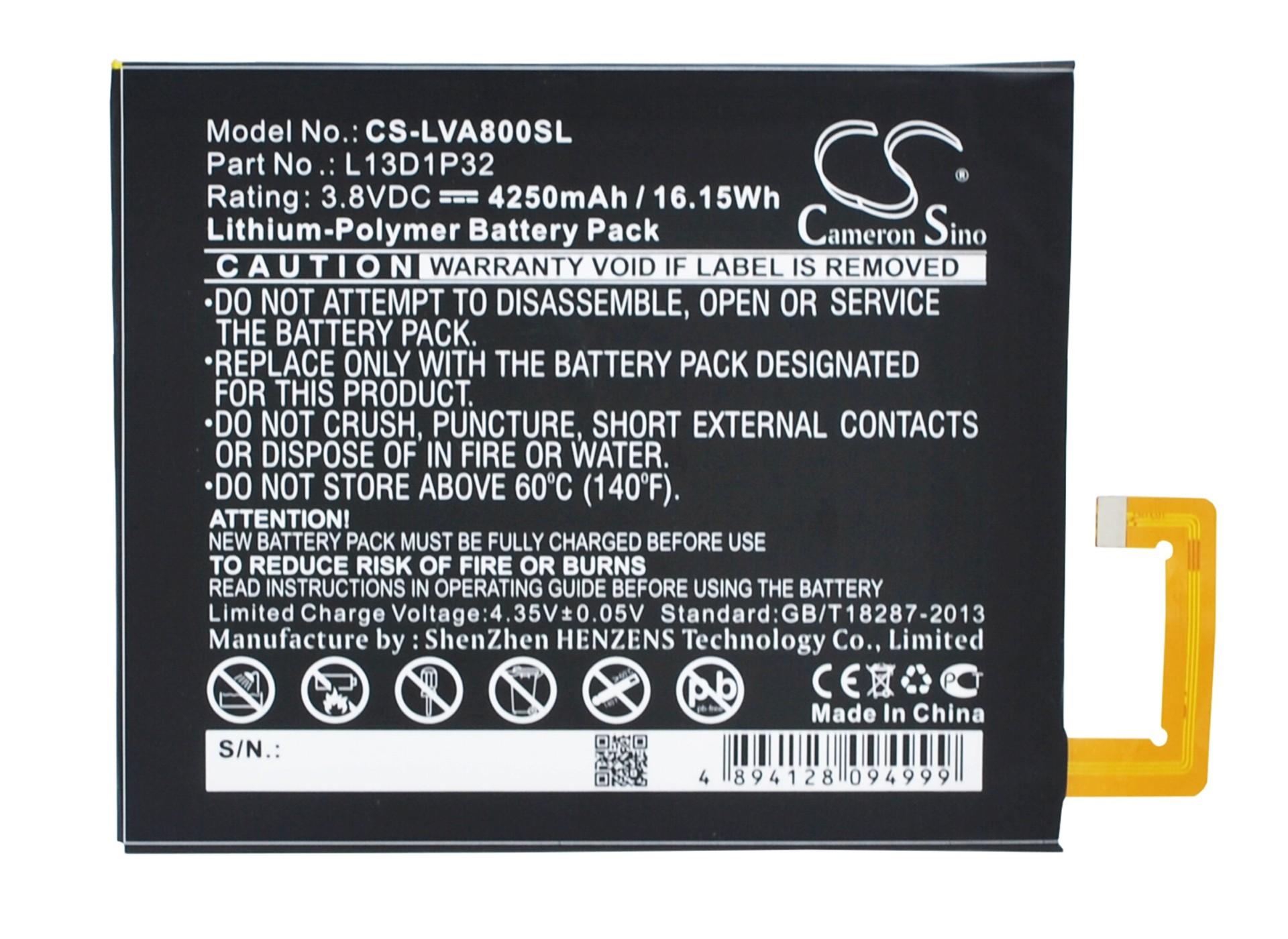 Lenovo IdeaPad A5500 L13D1P32 4250mAh 16 15Wh Li Polymer 3 8V Cameron Sino