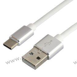 Kabel przewód silikonowy USB - USB-C everActive CBS-1.5CW 1.5m z obsługą szybkiego ładowania do 3A biały