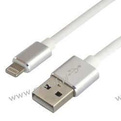 Kabel przewód silikonowy USB - Apple Lightning everActive CBS-1IW 1m z obsługą szybkiego ładowania do 2.4A biały
