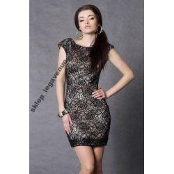 SZYKOWNA  sukienka koronkowa SEXI 38 M  NOWA