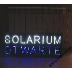 LED REKLAMA SOLARIUM OTWARTE - MOCNA DIODA