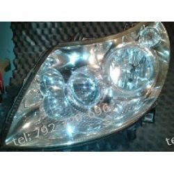Fiat Ducato lewa lampa przód, cała instalacja, biała kostka, klosz i uchwyty całe +silniczek